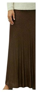Lane Bryant Striped Plus Size Maxi Skirt maroon & gold