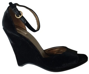 Miu Miu Black Velvet Wedges