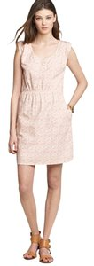 J.Crew short dress White red J. Crew Floral on Tradesy