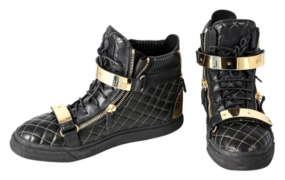 61cb3fc43f539 Giuseppe Zanotti Black Quilted Leather High-top Sneakers Size US 13 ...