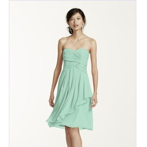 David's Bridal Mint Davids Bridal Bridesmaid Dress Dress