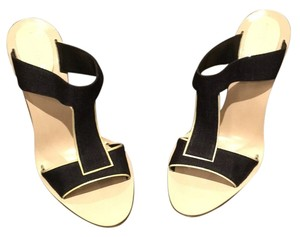 Donna Karan Black with ivory trim Mules