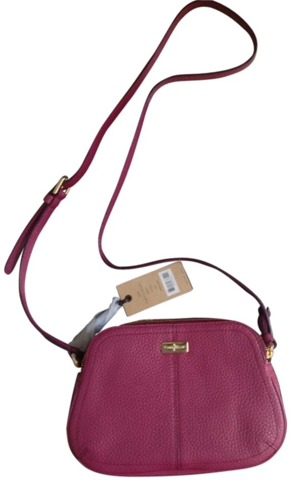 Cole Haan Village Double Zip Winery Leather Cross Body Bag - Tradesy