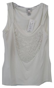 Cache Beaded Top White