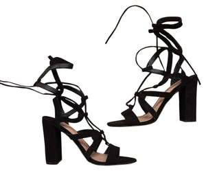 Tony Bianco Lace-up Heels Sexy Heels Suede Black Formal