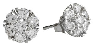 Saravia ESTATE 1.60Ct Natural VS Diamond 14k Solid White Gold Earrings