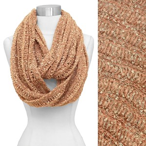 Two Tone Confetti Knit Infinity Loop Scarf