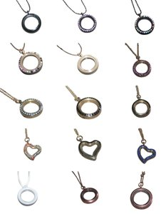 14 Piece Create Your Own Memory Locket Pendant or Bracelet Free Shipping