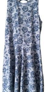 Hollister short dress Blue & white on Tradesy