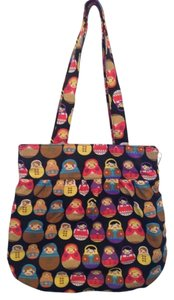 Print Spring Purse Geo Tote in Russian doll