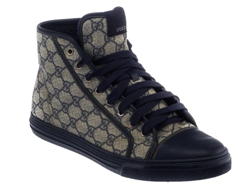 71f0e6326 Gucci Canvas High Top Sneakers High Top Sneakers Navy Blue & Gray Athletic  Image 0 ...