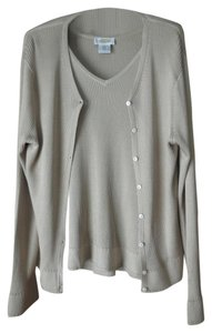 Talbots Silk Twin Set Cardigan