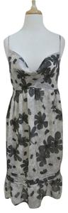 Anna Molinari short dress gray Floral Sleeveless Slip Draped on Tradesy