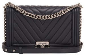 Chanel New Medium Chevron Blue Shoulder Bag