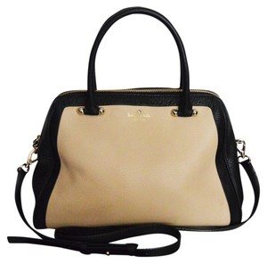 Kate Spade Leather Satchel in Cashew Black