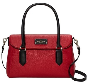 Kate Spade Leather Gold Hardware New York Classic Satchel in Dynasty Red