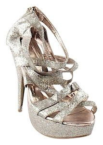 Forever 21 Sparkly Champagne Pumps