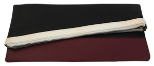 BCBGMAXAZRIA Black/white/maroon Clutch