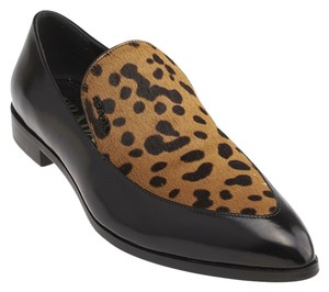 Prada Pony Hair Animal Print & Black Flats