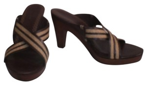 Cole Haan Leather Wood Brown Tan Sandals