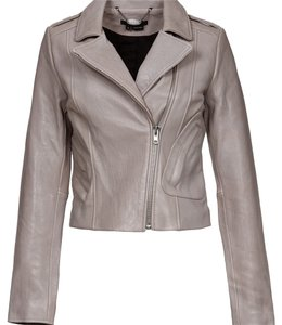 Scoop NYC Blush Leather Jacket