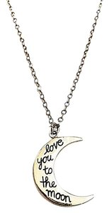 Independent Clothing Co. Love You To The Moon Sterling Silver Necklace