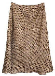 The Limited Silk Gold Flowy Limited Edition Silky Skirt gold, brown