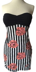 Motel Rocks short dress Black, white and coral on Tradesy