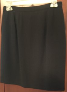 Ann Taylor Triacetate Ployester Acetate Fully Lined Mini Skirt Black
