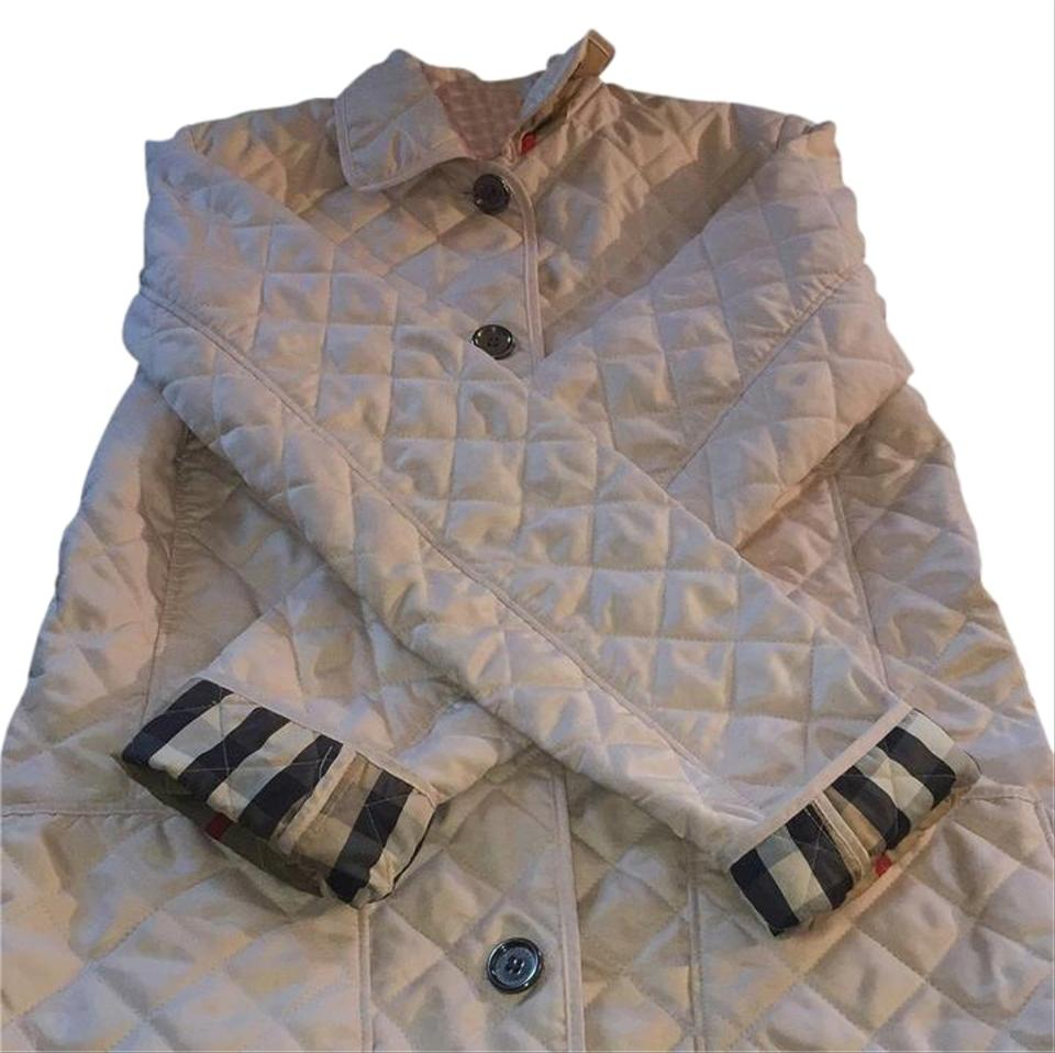 54cad8eb02ff Burberry Pink Quilted Jacket Size 14 (L) - Tradesy