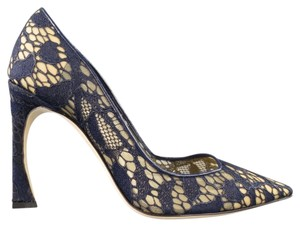 Dior Lace Stiletto Navy Formal