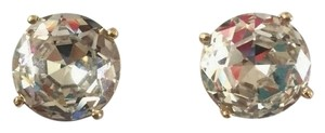 Kate Spade NEW!!!! Clear Large Big Gumdrop Stud Round Rhinestone Earrings