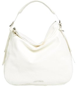 Jimmy Choo Quilted Logo Leather Hobo Bag