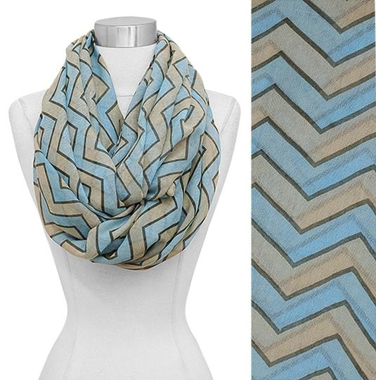 Other Women Zigzag Multi Color Infinity Scarf