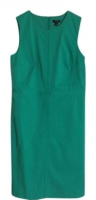 Preload https://img-static.tradesy.com/item/134746/ann-taylor-green-polished-cotton-seamed-zip-sheath-knee-length-night-out-dress-size-petite-8-m-0-0-650-650.jpg