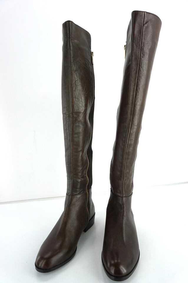 0f7fb8e400f Michael Kors Brown Leather Bromley Over The Knee Stetch Back Riding  Boots/Booties Size US 5.5 Regular (M, B) 70% off retail