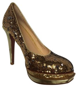 Cole Haan Gold Sequin Pumps