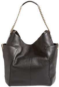 Jimmy Choo Side Pockets Logo Metal Trim Large Nwt Hobo Bag