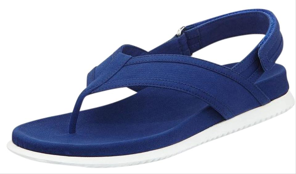Prada Blue Fabric Ankle Sport Strap Thong Sport Ankle Sandals c13ee1