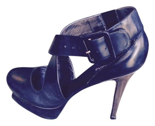 Marciano Leather Black Platforms