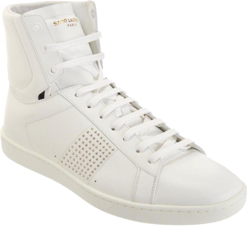 5381e8a501cc9 Saint Laurent 885124496171 Ysl Yves Fashion Trainers High Top Sneaker White  Athletic Image 0 ...