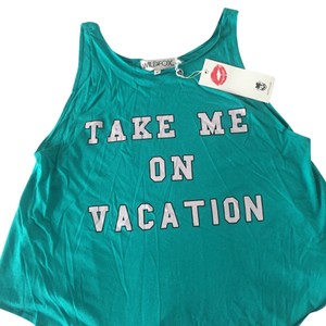 Wildfox Top Turquoise green
