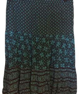 Sag Harbor Skirt brown/ turquoise