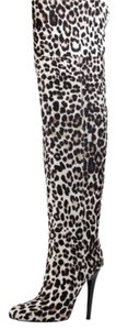 NEW! Jimmy Choo Over The Knee Heel Leopard Print Boots