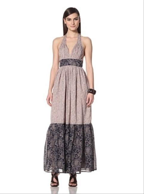 Nocturnal door mouse Maxi Dress by French Connection Columbine Clover Halterneck 10
