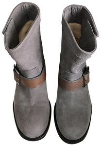 Jimmy Choo Grey and taupe Boots