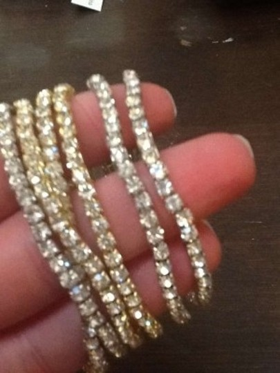Saks Fifth Avenue Crystal and Gold Never Worn Bracelets Earrings