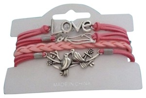 no brand Love, cat, birds bracelet