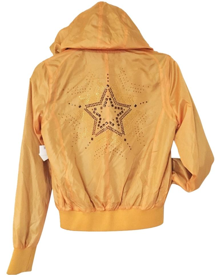 76a30ccb404 Love Tree Mustard Yellow Star Sequined Classic Bomber Windbreaker ...