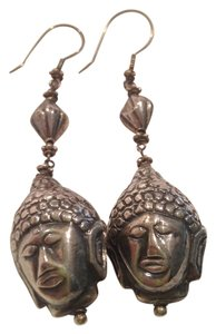 Other Sterling Silver Buddha Hanging Earrings
